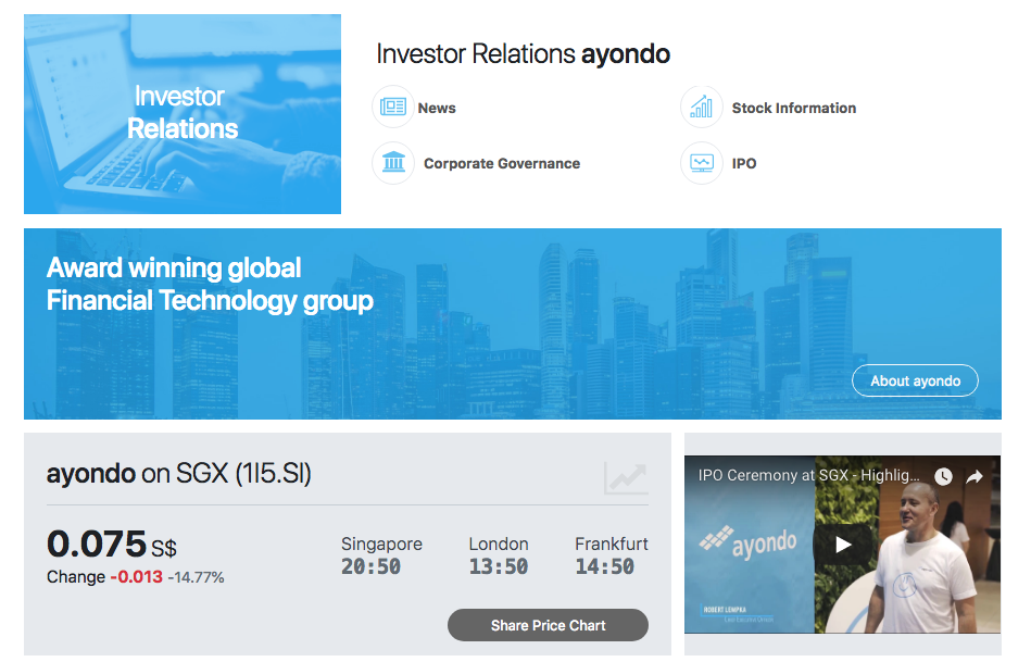ayondo investor relation website